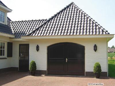 houten openslaande garagedeuren